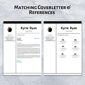 Elementary Teacher Resume Template Teaching CV Template Cover Letter Download