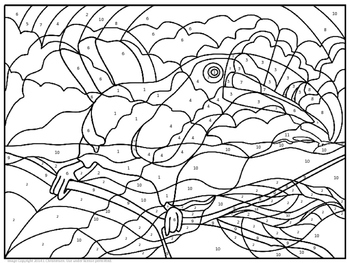 Elements, Compounds, & Mixtures Coloring Page by The