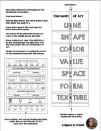 Elements of Art Worksheets - Interactive Notebook Page ...