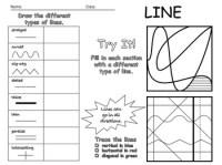 Elements of Art - Line Worksheet - Editable by Pine Tree ...
