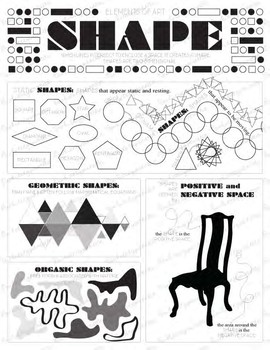 Elements of Art Shape: Elementary, Middle, or High School