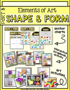 also elements of art part shape  form by sam nowak tpt rh teacherspayteachers