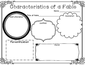 *FREEBIE* Elements of a Fable: 2 Graphic Organizers by The