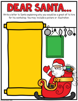 Elf Application Christmas Activity Packet by Teresa Kwant