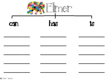 Elmer the Elephant Math and Literacy Integrated Unit by