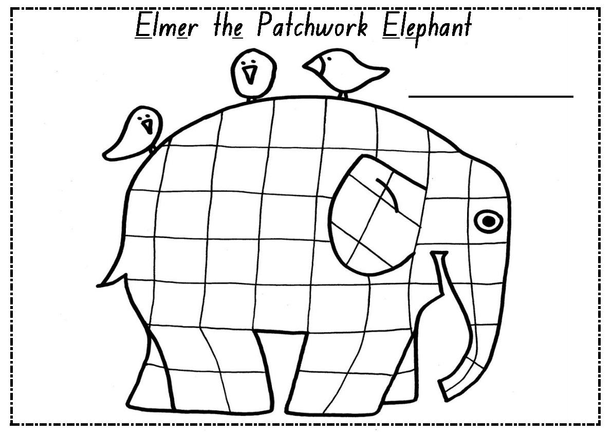 Elmer the Patchwork Elephant Letter E Activity by Mrs