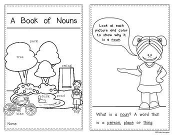 Noun Emergent Reader: Kindergarten and First Grade by