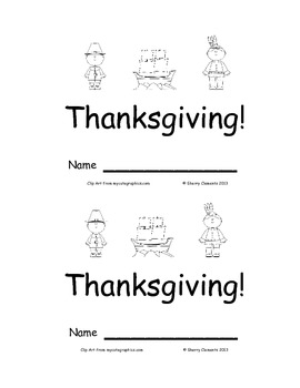 Thanksgiving Emergent Reader Sight Words (here, is, the