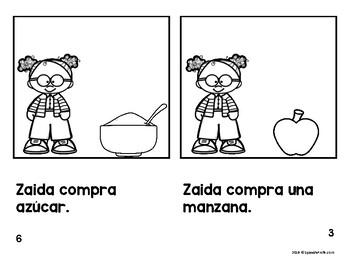 Emergent Spanish Readers za, zo, zu Letra Z (Libros