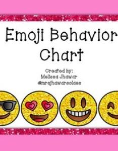 also emoji behavior chart by mrs jhawar   class teachers pay rh teacherspayteachers