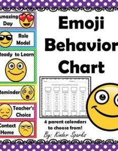 also emoji behavior chart with parent calendars by kinder sparks tpt rh teacherspayteachers