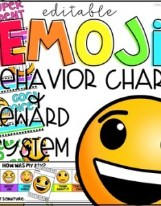 Emoji behavior clip chart punch cards and daily check in slips editable also rh teacherspayteachers