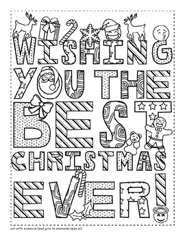 christmas card coloring pages # 6