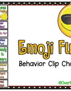 Emoji fun behavior clip chart also by over the moonbow tpt rh teacherspayteachers