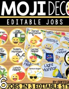 also emoji classroom decor editable job chart by erintegration tpt rh teacherspayteachers