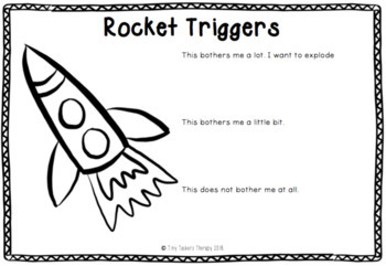 Self Regulation Tools: Triggers Student Worksheet x 5 for