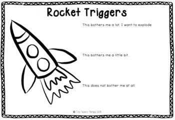 Self Regulation Tools: Triggers Student Worksheet x 5 for