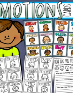 Original  also emotions and feelings visual cards for pocket chart lanyard key rh teacherspayteachers