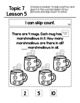 EnVision Math Topic 7 Journal by The Kindergarten Explorer