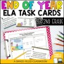 End Of Year Ela Task Cards 2nd Grade By A Grace Filled