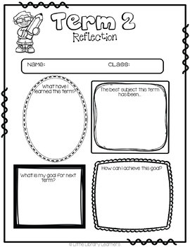 End of Term Reflection Printables FREEBIE by Little