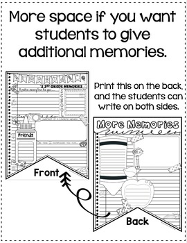 End of the Year Writing Activity by Elementary Lesson