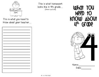 End of Year ~ Advice for Fourth Grade Brochure by Creative