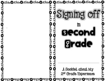 End of Year Booklet: Second Grade by Elementary Brown-ies