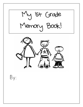 End of Year First Grade Memory Book by Charades in First