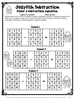 End of the Year Math Games Second Grade: Summer Packet