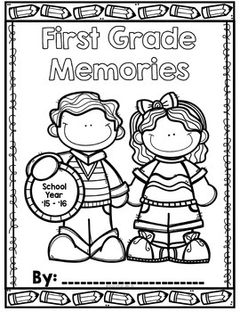 End of Year Memory Book ~ 1st and 2nd Grade by Shoelaces