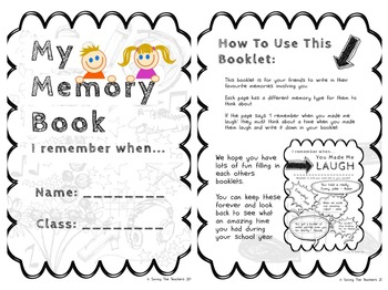 End of Year Memory Book: Friends Comments by Saving The