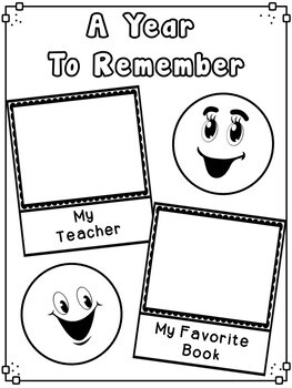 End of Year Emoji Memory Book Second Grade End Of Year