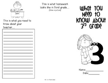 End of Year Project ~ Advice for Next Year's 3rd Grade