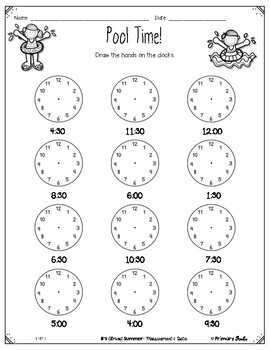End of Year Review: First Grade Measurement, Time, Data by