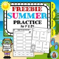 End of the YEAR Summer Packet From 1st grade to 2nd FREE SAMPLE