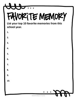 End of the Year Memory Book: My 5th Grade Memory Book by