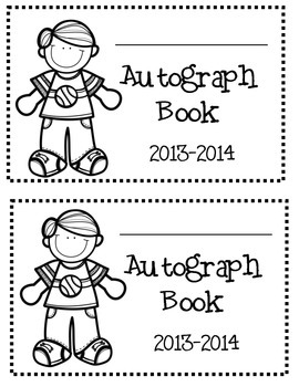 End of the Year Autograph Book dates: 2014-2015, 2015-2016