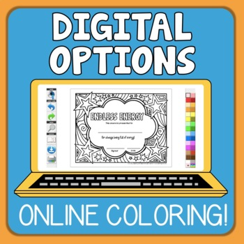 End of the Year Awards Your Students Can Color! (Grades 1