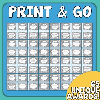 End of the Year Awards Your Students Can Color! (Grades 3