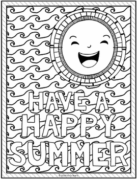 End Of The Year Coloring Pages : coloring, pages, Coloring, Pages, Summer, Ford's, Board