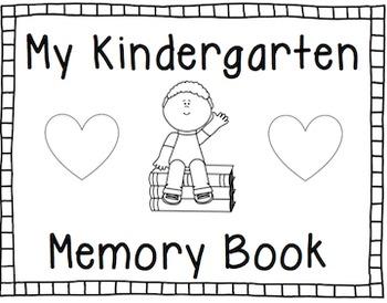 End of the Year Memory Book: Kindergarten by Megan Antigo