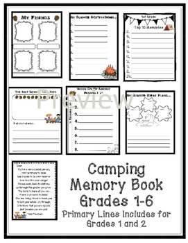 End of the Year Activities- Camping Theme by Coffman's
