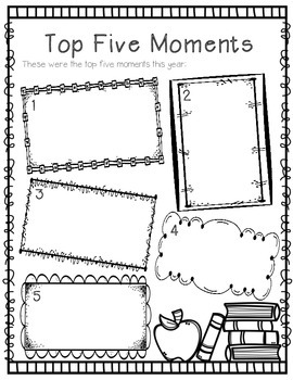 FREE End of Year Memory Book, Free End of Year Activity | TpT