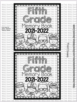 End of the Year Paper Bag Memory Book Pre-K-5th with 30