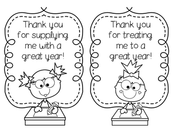 End-of-the-Year Printable Thank You Notes for Teacher