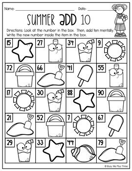 End of the Year REVIEW 1st Grade SUMMER BUNDLE No Prep