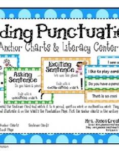 also ending punctuation anchor charts and literacy center tpt rh teacherspayteachers