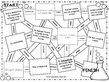 Endothermic vs. Exothermic: Energy Exchanges Maze