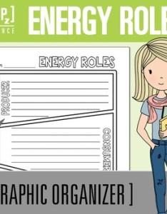 Energy roles producer consumer and decomposer  chart graphic organizer also rh teacherspayteachers